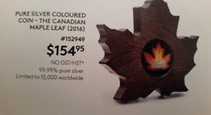 Pure Silver Canadian Maple Leaf $20 Coin