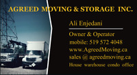 Agreed Moving Inc. Written Quotation, 24' Truck Hourly/Flat Rate