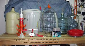 Équipement complet (kit) pour fabrication de vin + 2 meubles rel