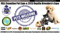 Canadian Pet Expo and Canadian Reptile Breeders Expo September 1
