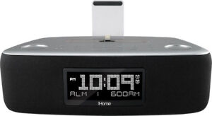iHome iDL44 FM Clock Radio with Lightning Dock and USB Port