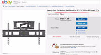 LARGE WALL MOUNT TV  INSTALLER.  60$/TV + Mount material cost