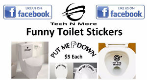 Funny Toilet Stickers (3 Options)