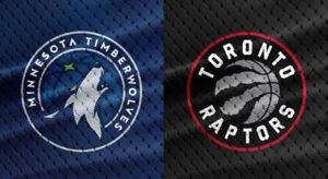 2-4 Minnesota Timberwolves v Toronto Raptors - Oct 24 S106 + 301