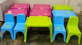 Plastic Table and Chairs only £5 each. Real Bargains Clearance Outlet