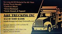 A&E Trucking INC for all your Dump Truck needs!