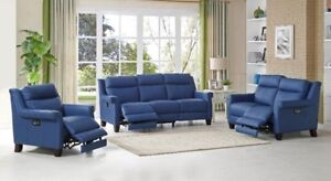 Dolce leather recliner 3 pc SET, 6WAY POWER, 2 memory settings..