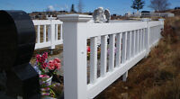 PVC CEMETARY PLOT FENCES--HIGH Quality & LOW Prices!!!!!!