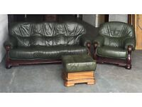 Thick Leather 3&1 Seater Sofa Set With A Free Footstool.WE DELIVER