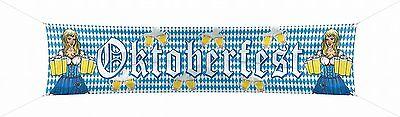 Straßenbanner Oktoberfest Wiesn Dekoration Raumdeko 180 x 40 cm