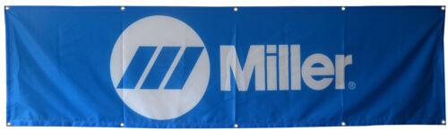 Miller Welding Flag Welder Tools USA Blue 2x8ft banner US Shipper