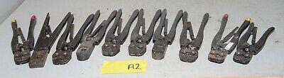 10 Vintage Amp Crimp Crimping Electrical Crimper Vintage Hand Tool Lot A2