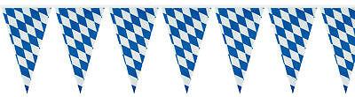 Oktoberfest Wies'n Spass warm up Wimpelkette 400 x 26 cm bayrische Raute