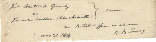 Chief Justice Roger Taney Favored Slavery -- Signed Document Fragment