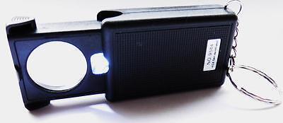 Lupe mit LED Licht Beleuchtung aufschiebbar 45- fach Vergrößerung  Juwelier online kaufen
