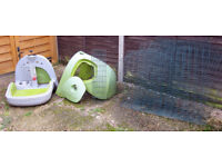 OMLET EGLU Classic Pet with 2m run - Rabbit hutch / Guines Pig / Chicken house