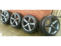 "Audi a5/a4 18"" alloy wheels 5x112 9j will fit vw passat GENUINE!!!"