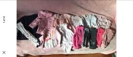 Bundle of baby girls 3-6 clothes