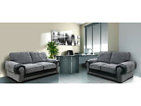 SALE PRICE SOFAS*** Get a Rhino fabric cord sofa set *** Next Day Delivery****