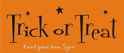 Joanie Fall Stencil Trick Treat Star Whimsey Craft Halloween Kid Signs U Paint - Starfall Halloween
