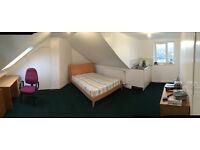 Large furnished bedroom .