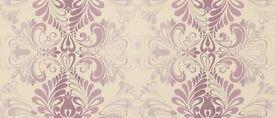Laura Ashley Fitzroy Amethyst wallpaper 3 rolls same batch