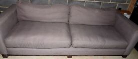 French Connection Grande Fabric Sofa and Footstool