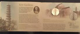 Official uncirculated proof Kew Gardens 50p. Mint condition.
