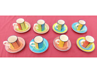 8 x Whittards of Chelsea Espresso Cups & Saucers
