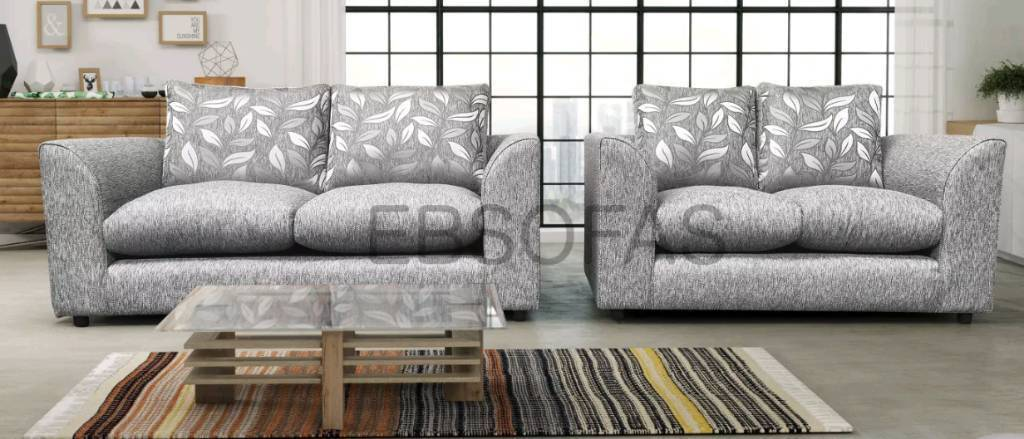 NEW DIANE 3+2 SOFA AVAILABLE IN, Chestnut, Black, Silver, Beige, Mink