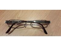 "GUCCI Prescription Eyeglasses ""GG 1879 OCH Shiny Brown Ruthenium"""