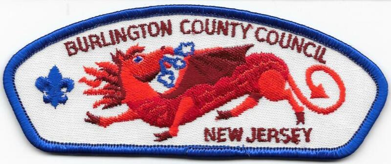 Burlington County Council Strip Plastic Back CSP SAP Boy Scouts of America BSA