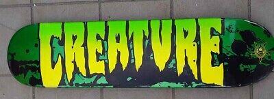 Creature Youth Deck 7.25 Skateboard New Girls Skate New Green Logo Signature