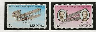 LESOTHO Sc 260-1 NH issue of 1978 - AVIATION