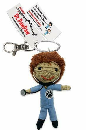Kamibashi Dr Pawpaw The Vet Boy Original String Doll Gang Keychain Clip