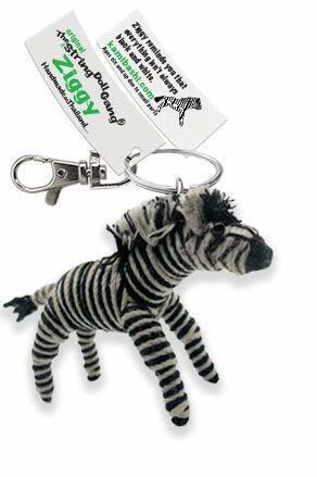 Kamibashi Ziggy The Zebra Original String Doll Gang Keychain Clip