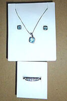 Reduced Price Topaz and Diamond set  Pendant, Ring, Ear Rings