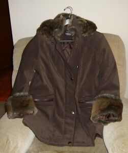 Women's Winter Jacket  Size 12 with Detachable Fur Hood
