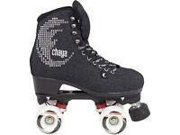 Chaya Noir rollerskates skates outdoor ramp park