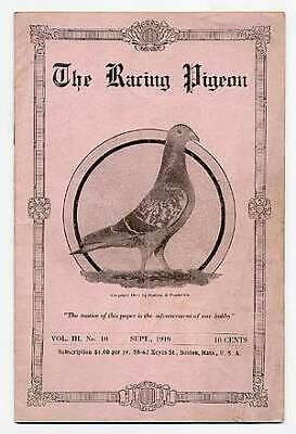 The Racing Pigeon Sept 1919 / First Edition