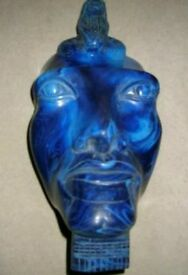Unusual blue stone Egyptian carved head