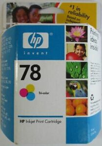 HP 78 Tri-Color ink cartridge,New, Sealed, dated 2009 - $5