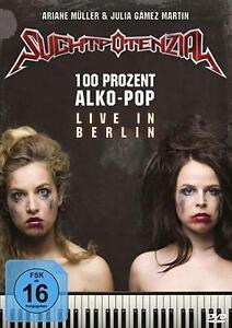 "Suchtpotenzial ""100 Prozent Alko-Pop - Live in Berlin (2015)"" DVD ***NEU/OVP***"