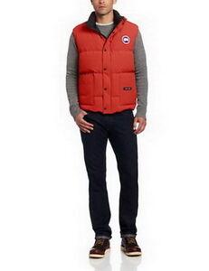 Men Freestyle Vest Red - Canada Goose 69% off!