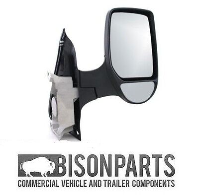 FORD TRANSIT MK6 MK7 COMPLETE WING DOOR MIRROR MANUAL DRIVERS SIDE RH   TRA347