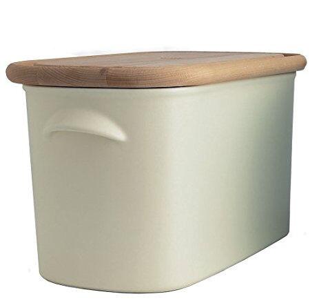 nigella living kitchen large cream ceramic bread bin with. Black Bedroom Furniture Sets. Home Design Ideas