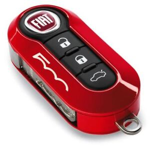 Fiat Amp Abarth 500 500l Gloss Coral Red Two Piece Key Cover