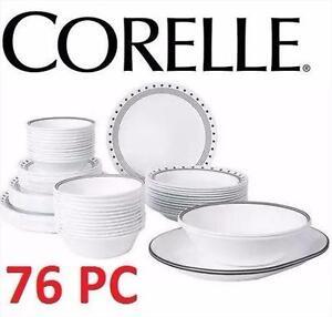 NEW* CORELLE 76 PC DINNERWARE SET CITY BLOCK KITCHEN HOME KITCHENWARE DINING 92690941