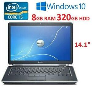 RFB DELL LATITUDE E6430 LAPTOP PC E6430 251192277 14.1 I5-3320M 8GB RAM 320GB HDD WIN 10 COMPUTER REFURBISHED