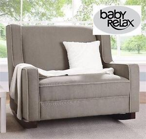 NEW BABY RELAX DOUBLE ROCKER   DARK TAUPE BABY NURSERY INFANT HOME FURNITURE LIVING ROOM CHAIR 96173735